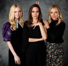 Elle Fanning, Angelina Jolie and Michelle Pfeiffer - Maleficent Promotion Sept 2019