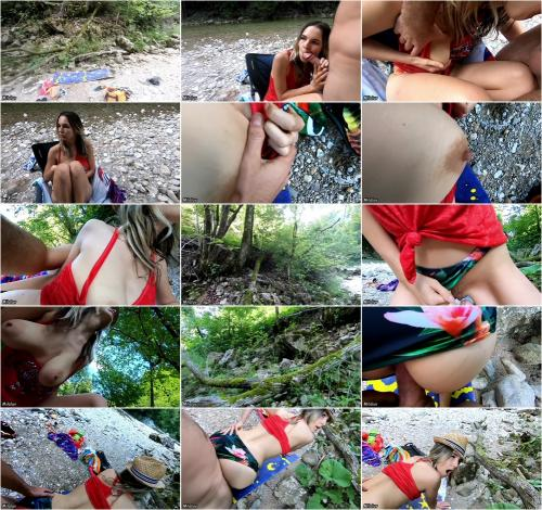 BunnyBlonde - Public Sex At The Creek - Nearly Got Caught [FullHD 1080P]