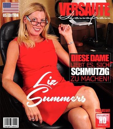Mature - Liz Summers (52) - Amerikanisch Hausfrau Liz spielt mit sich selbst