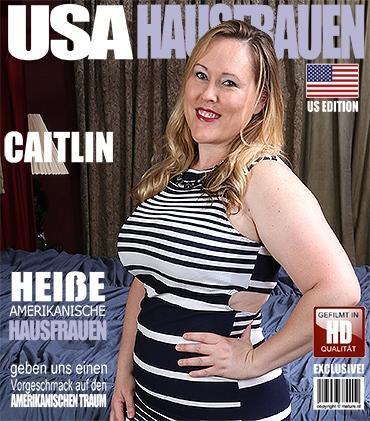 Mature - Caitlin (34) - Amerikanisch kurvige Hausfrau fingert sich selbst