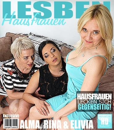 Mature - Alma (40), Elivia (36), Rina M. (54) - 3 reife Lesben teilen ihre Muschis