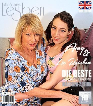 Mature - Amy (EU) (55), Liz Rainbow (EU) (22) - 2 alte und junge Lesben spielen miteinander  Mature.nl