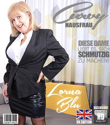 Mature - Lorna Blu (EU) (57) - Britische kurvige Hausfrau Lorna Blu zeigt ihre großen Titten  Mature.nl