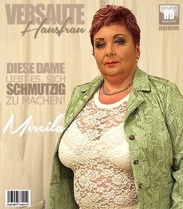 Mature - Mireila (55) - kurvige Hausfrau Mireila zeigt ihre großen Titten