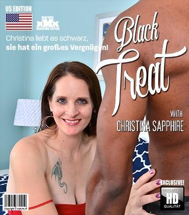 Mature - Christina Sapphire (42) - Amerikanisch Geile Dame macht es gemischtrassig