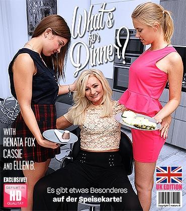 Mature - Cassie (21), Ellen B. (EU) (49), Renata Fox (22) - Diese drei geile Lesben teilen ihre Muschis