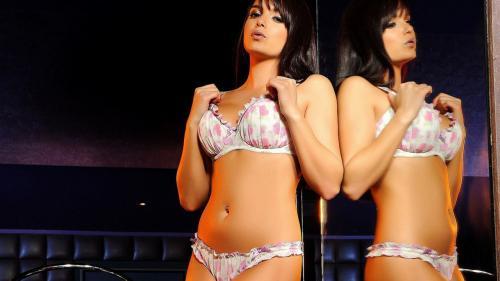 Sasha Stripping from her White Lingerie