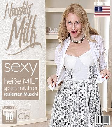 Mature - Ciel (41) - Naughty American MILF playing with her shaved pink pussy