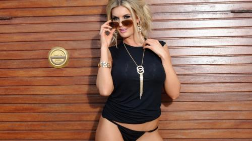 Tommie Tease - Black Lingerie & Sunglasses
