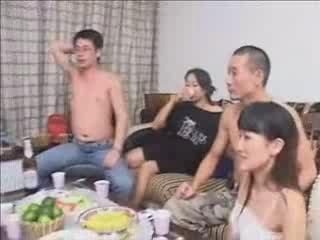 Dudes from China exchanging wives at party