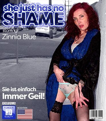 Mature - Zinnia Blue (44) - Naughty cougar Zinnia Blue has no shame and she will show you why she is horny all the time
