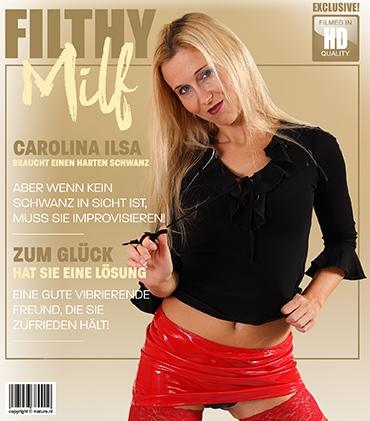 Mature - Carolina Ilsa (38) - Hot blonde Milf Carolina Ilsa is always horny and wet. But when there's mo cock in sight she'll take hand in her own matters.