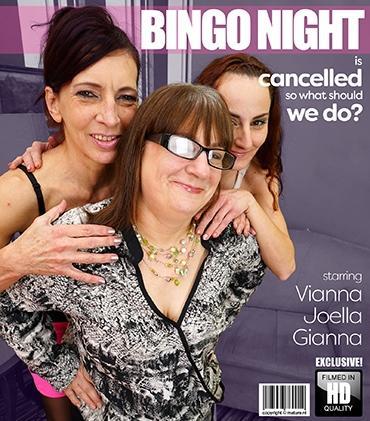 Mature - Gianna B. (34), Joella (53), Viana (54) - 3 reife Lesben teilen ihre Muschis