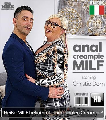 Mature - Christie Dom (EU) (49) - Hot MILF getting an anal creampie after fucking and sucking her ass off
