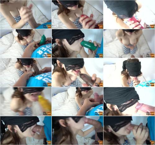 Alice Coquine - Blind Taste Test, Flavoured Condoms Blowjob [FullHD 1080P]