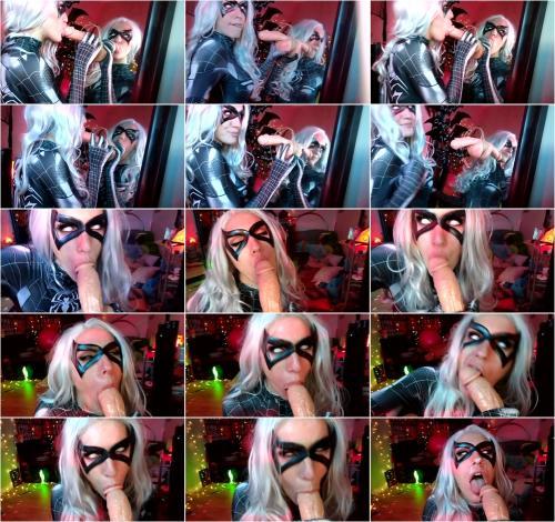 Lara Loxley - Black Cat Symbiote Mirror BJ Facial [FullHD 1080P]